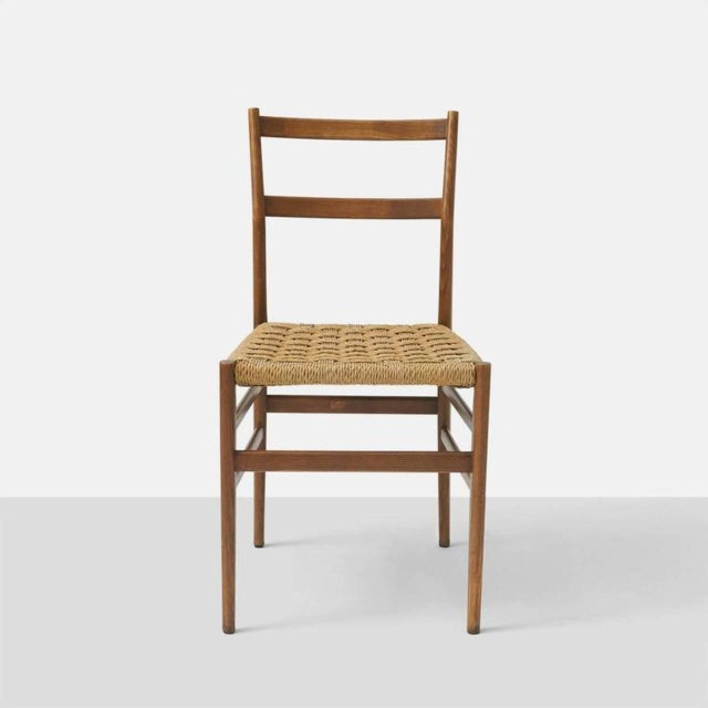 Cassina Set of Eight Leggera Chairs by Gio Ponti for Cassina For Sale - Image 4 of 9