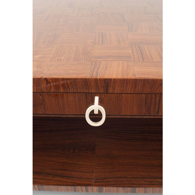 Mid-Century Modern French Midcentury 1950s Rosewood Coffee Table For Sale - Image 3 of 5