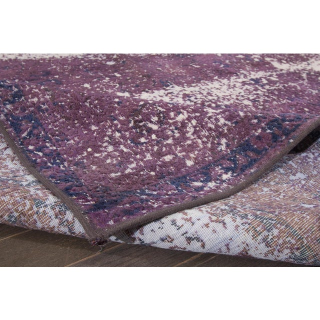Abstract Vintage Overdyed Rug For Sale - Image 3 of 7