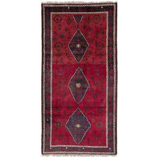 Mid 19th Century Antique Persian Rug - 4′7″ × 9′7″ For Sale