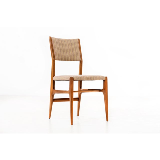 Cotton Set of 6 Gio Ponti Dining Chairs For Sale - Image 7 of 10