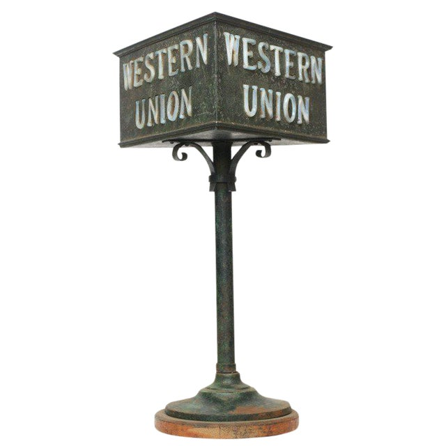Rustic Western Union Countertop Lamp - Image 1 of 8