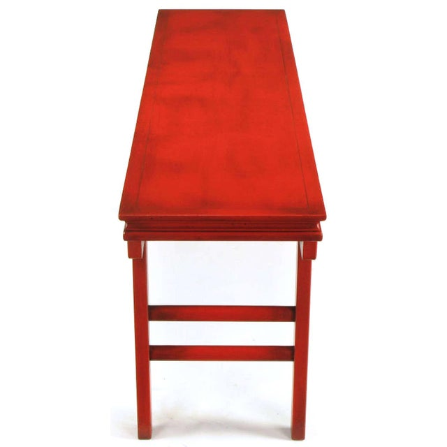 Circa 1950s Chinese Altar Table In Cinnabar Lacquer For Sale In Chicago - Image 6 of 9