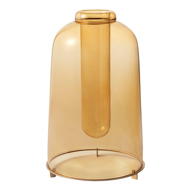 Yellow Blown Glass Vase the Tall by Paola C for Design Italy For Sale