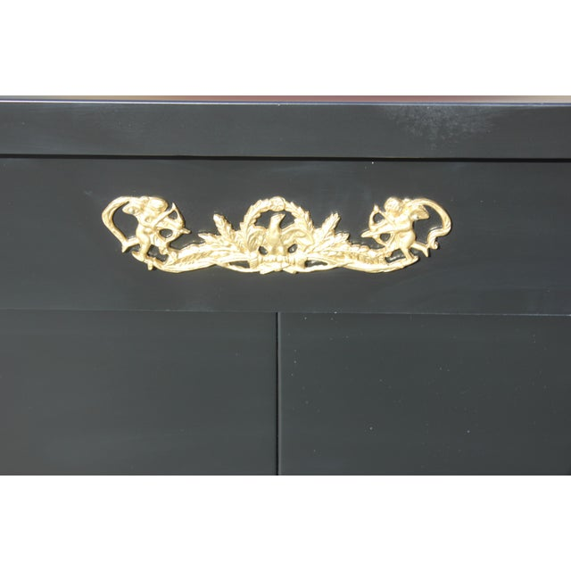 1920s Long French Empire Style Antique Sideboard or Buffet For Sale - Image 9 of 13