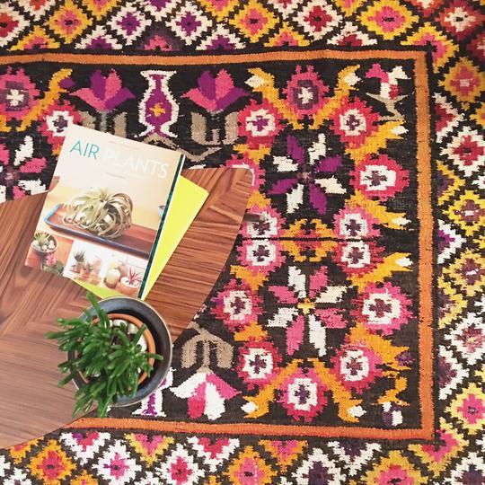 Vintage Peruvian Diana Rug Handwoven In Peru 4 10 215 6