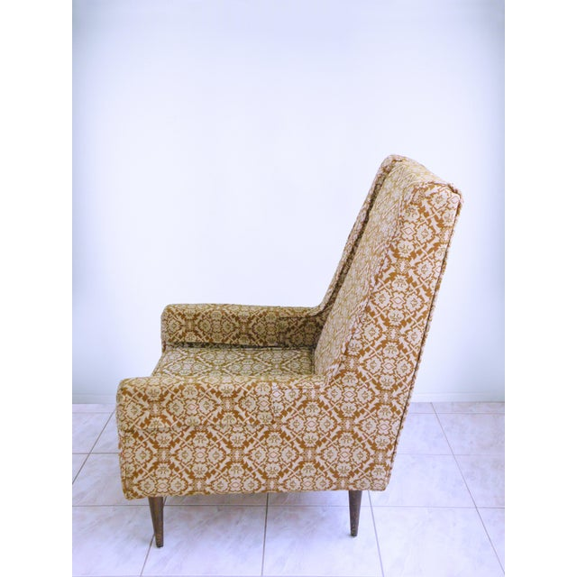 Mid Century Modern Chair Edward Wormley for Dunbar Style High Back Lounge Chair For Sale In Chicago - Image 6 of 7