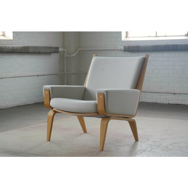 Wood Danish Lounge Chair Model 501 by Hans WEgner for Getama For Sale - Image 7 of 7