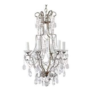 Vintage Macaroni Beaded Arm Chandelier For Sale