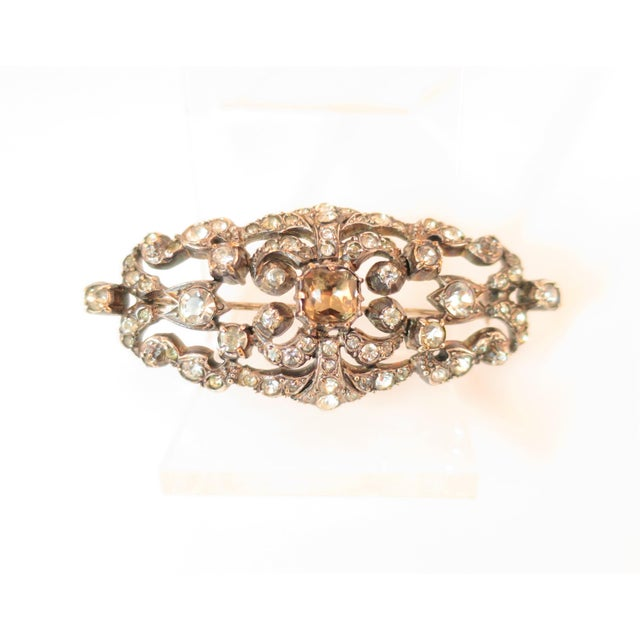 Edwardian Hand-Wrought Sterling & French Paste Brooch1905 For Sale - Image 11 of 11