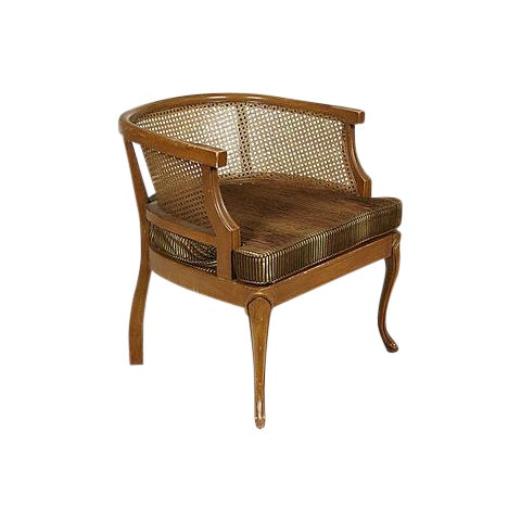 1960s Caned Barrel Chair - Image 1 of 5