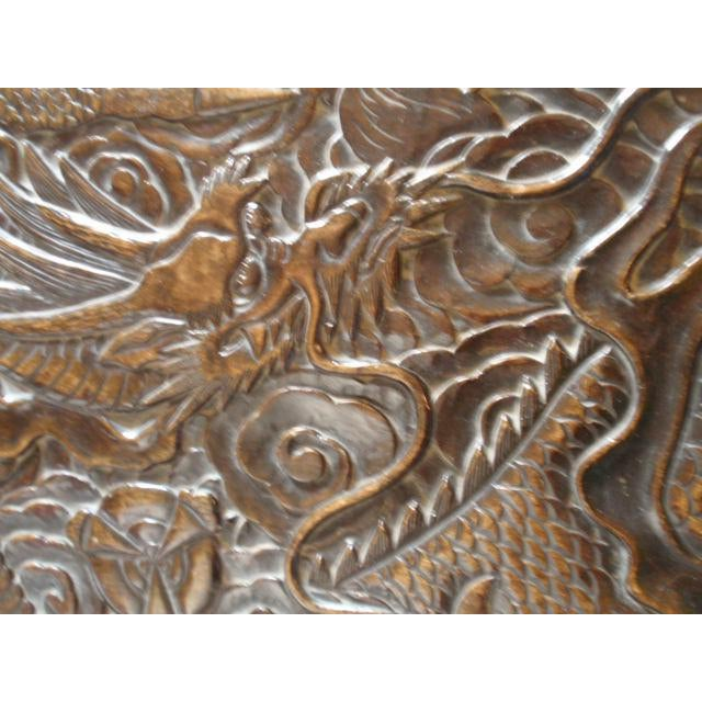 Antique Chinese Carved Table With Dragon Motif - Image 9 of 10