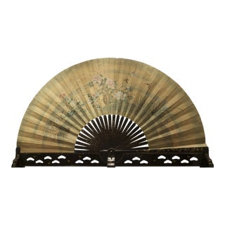 Asian Japanese Monumental Exhibition Quality Folding Fan For Sale