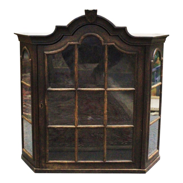 Glass Dutch Hanging Cupboard For Sale - Image 7 of 7