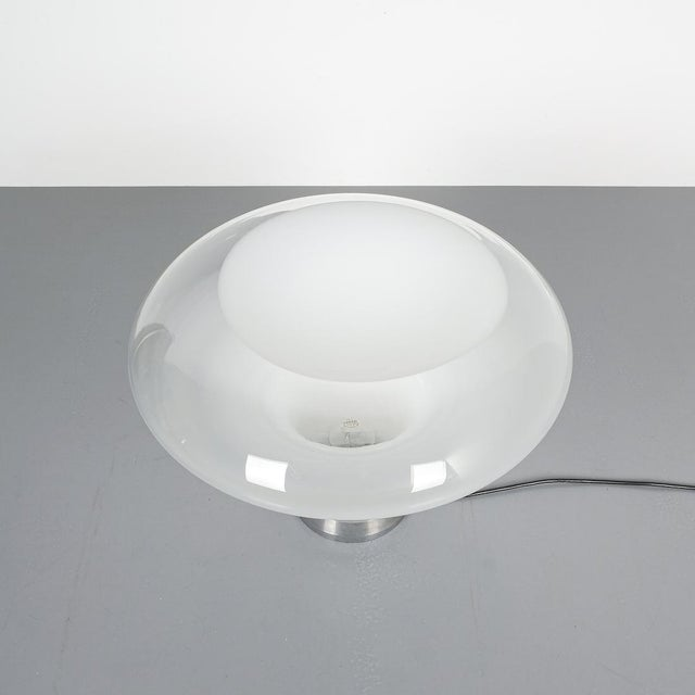 Mid-Century Modern Angelo Mangiarotti Lesbo Table Lamp Artemide, Italy, 1967 For Sale - Image 3 of 7