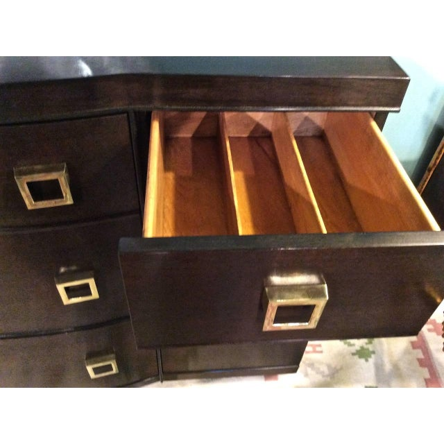 Mid-Century Bow Fronted Chest of Drawers - Image 9 of 10