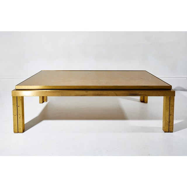 Maison Jansen Brass Lacquered Coffee Table For Sale - Image 6 of 6