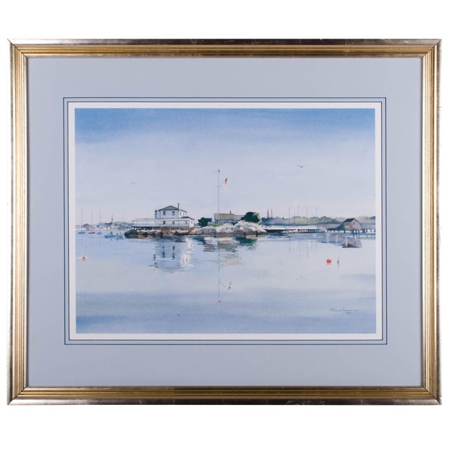 Watercolor Seascape - Richard Grosvenor, Rhode Island Artist | Chairish