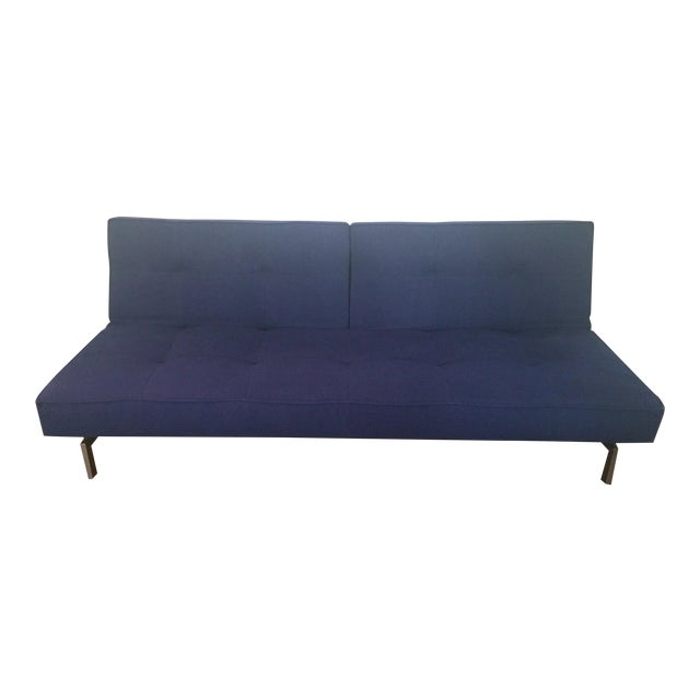 Abc Carpet & Home Crashpad Divided Daybed Sofa in Navy For Sale