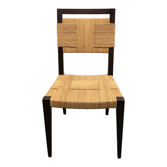 Palecek Raffia Rope & Wood Side Chair - Image 1 of 7