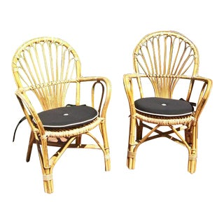 Bent/Woven Bamboo Dining Chairs & Table by Josef Frank For Sale