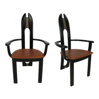 Set of Six Avant Garde Dining Chairs by Costantini Pietro-Italy For Sale