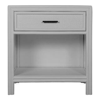 Bermuda One-Drawer Nightstand - Light Gray For Sale