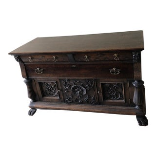 Late 19th Century Antique Black Forest Style Credenza For Sale