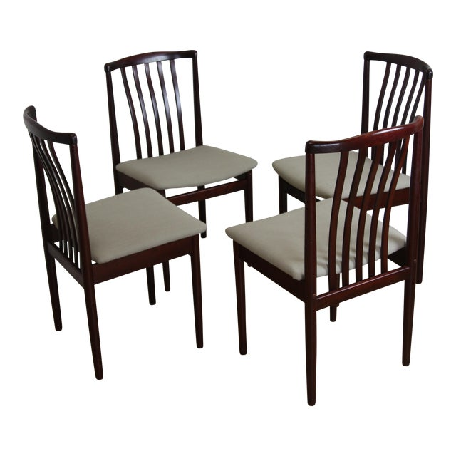 20eb1afd9bcd7 Danish Modern Rosewood Chairs by Vamdrup Stolefabrik - Set of 4 For Sale