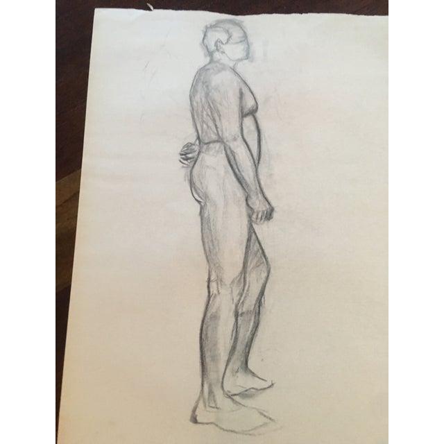 Vintage Large Mid Century/Hollywood Regency Abstract Drawing Figure Nude Amazing Vintage Find Wonderful Vintage Artwork...