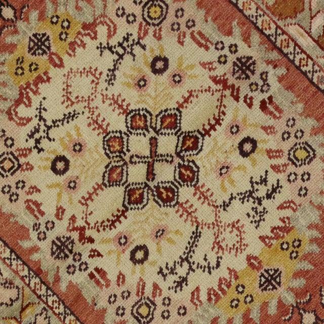 Vintage Turkish Oushak Rug - 3'4 x 6'6 - Image 4 of 6