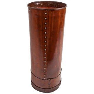 Cured Leather Umbrella Stand For Sale