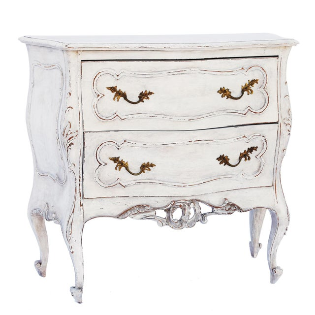 Gold Pair of Painted Rococo-Style Nightstand Commodes For Sale - Image 8 of 9
