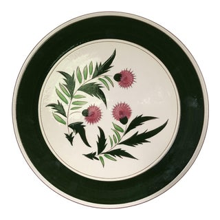 "Midcentury Stangl Pottery Thistle 14.5""d Serving Platter For Sale"