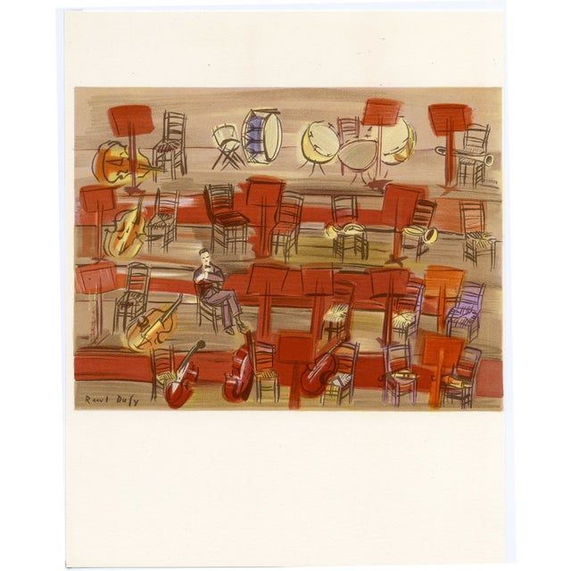 """Raoul Dufy """"L'Entracte"""", Original Lithograph by Raoul Dufy (1965) For Sale - Image 4 of 4"""