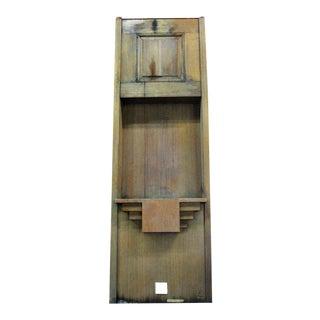 Oak Alcove With Raised Panel & Shelf