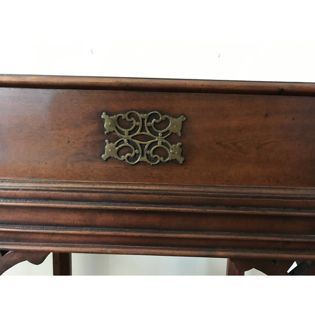 Traditional Vintage Reproduction Mahogany Box on Stand For Sale - Image 3 of 10
