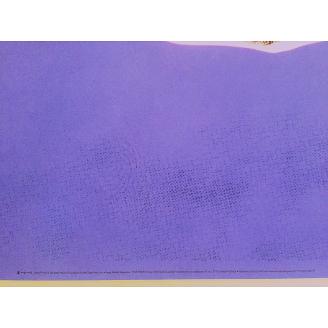 """Andy Warhol Foundation Lithograph Print Pop Art Poster """" Cow Pink & Purple """" 1976 For Sale In Kansas City - Image 6 of 8"""