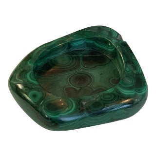 Small Vintage Malachite Ashtray For Sale