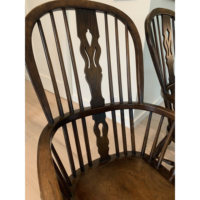Brown Late 19th Century Windsor Chairs - A Pair For Sale - Image 8 of 9
