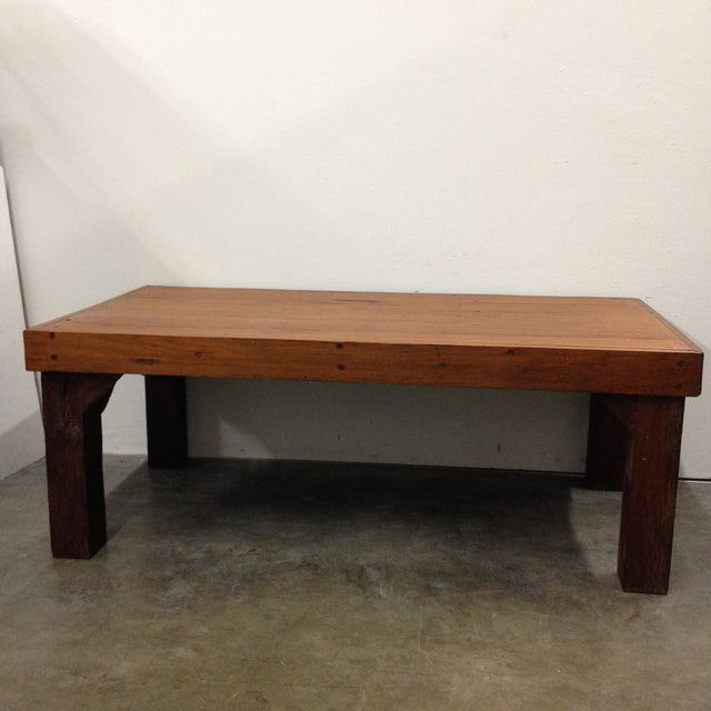 Wood Antique Arts & Crafts Tree Branch Coffee Table For Sale - Image 7 of 10