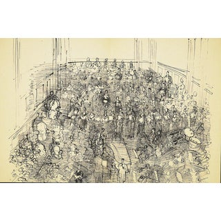 Dufy Lithograph: Orchestra I , 1944 From Monograph of Designs & Sketches For Sale