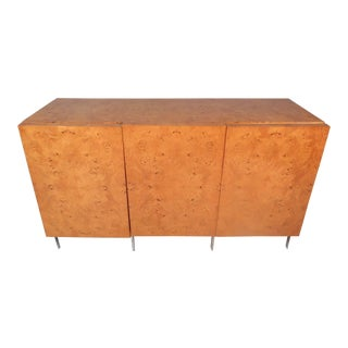 Burl Maple Credenza by Milo Baughman For Sale