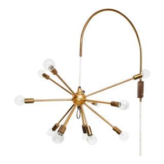 Vintage Brass Sputnik Wall Lamp For Sale