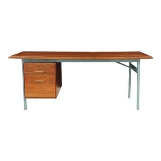 Jens Risom Mid-Century Modern Style Walnut Desk