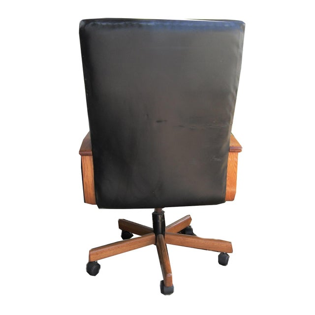 Black Leather Executive Office Chair - Image 5 of 5