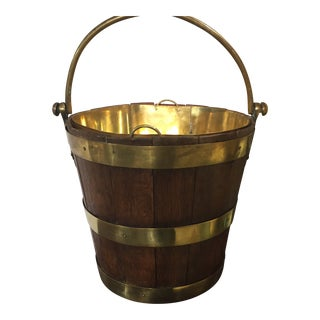 19th Century English Traditional Peat Bucket For Sale