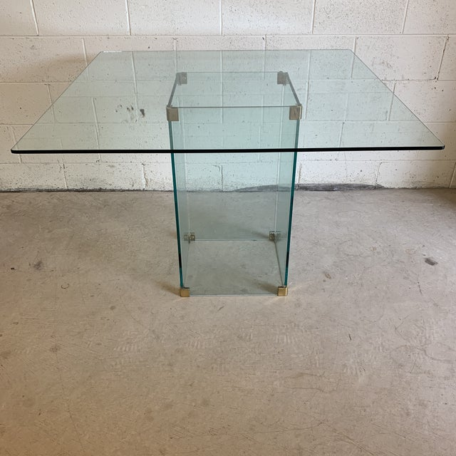 Pace Collection Square Glass Dining Table For Sale - Image 11 of 11