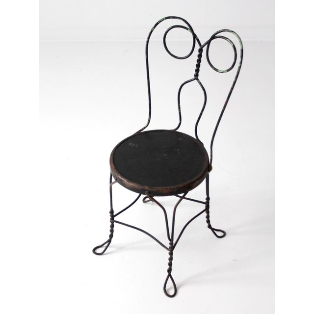 Vintage Ice Cream Parlor Bistro Chair - Image 3 of 7