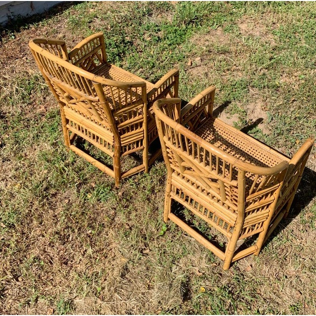Antique Chinese Bamboo Chairs - A Pair For Sale - Image 9 of 13